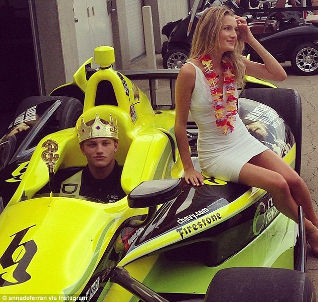 Karam skipped his prom to practice for the Indy 500 - though it doesn't seem he missed the chance to party
