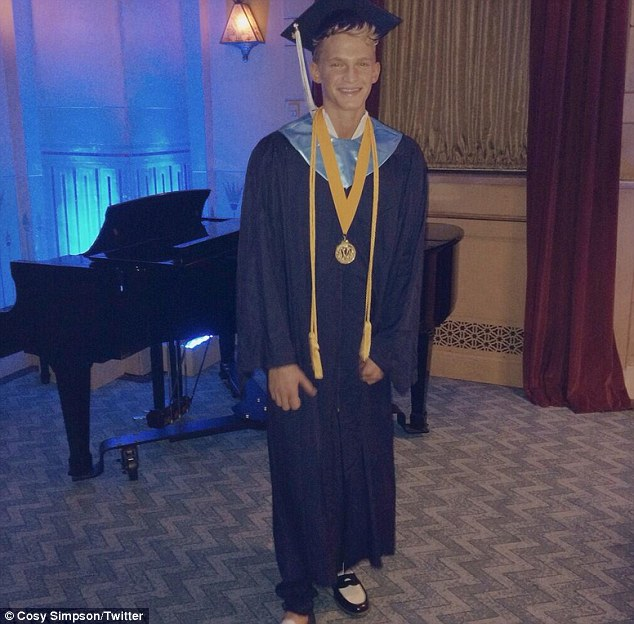 All grown up! Singer Cody Simpson graduated at the top of his class at his Atlanta High School on Friday