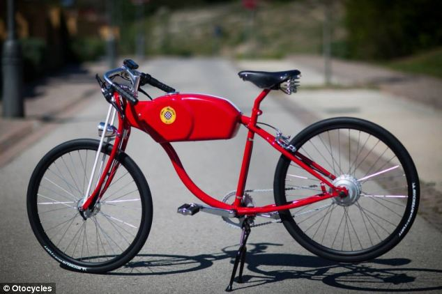 The OtoK and OtoR cycles weigh between 23 and 25kg, and everything from their colour to saddle can be customised.