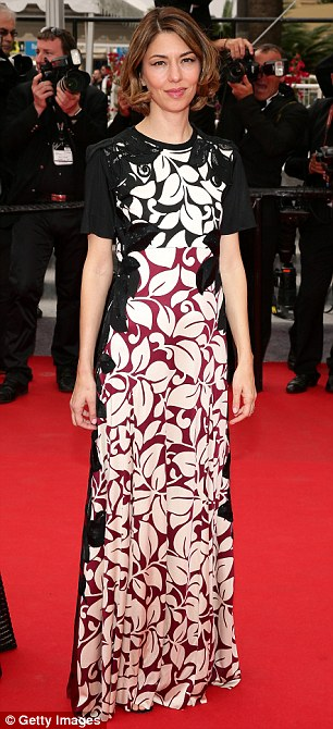Pretty in print: Jury member Sofia Coppola looked chic as she arrived at the event in her floor-length gown