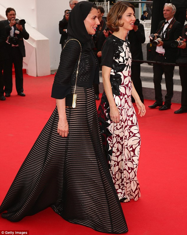 Making an entrance: The Academy Award winner was joined on the red carpet by fellow juror Leila Hatami