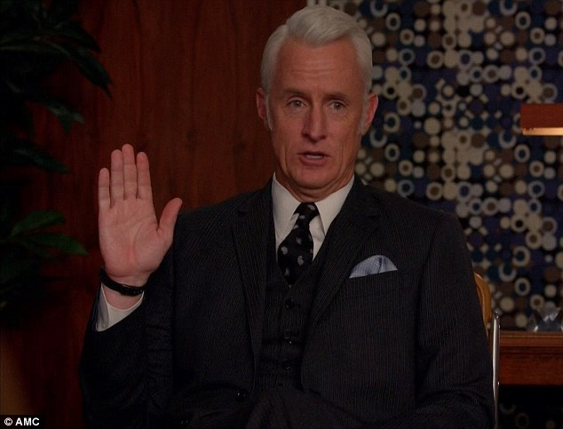 Loyal friend: Roger Sterling did his best to save Don's job