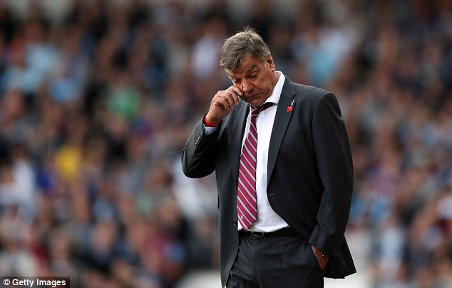 Feeling it: Sam Allardyce has been under pressure from fans unhappy with his team's style all season