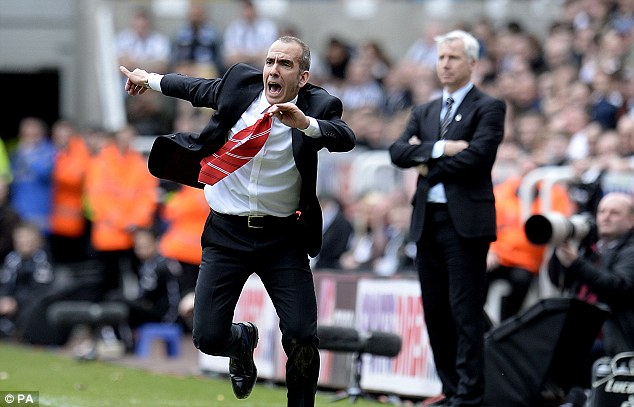 Impact: Di Canio made an explosive start to life at Sunderland, beating Newcastle 3-0 in his second match