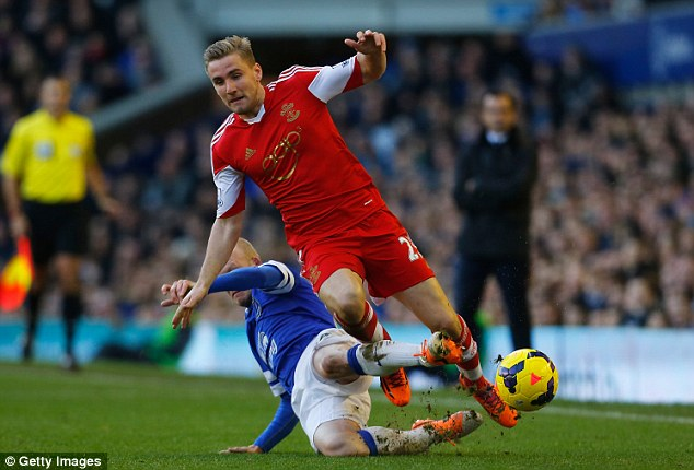 Transfer target: Luke Shaw has apparently agreed a deal to join United after the World Cup