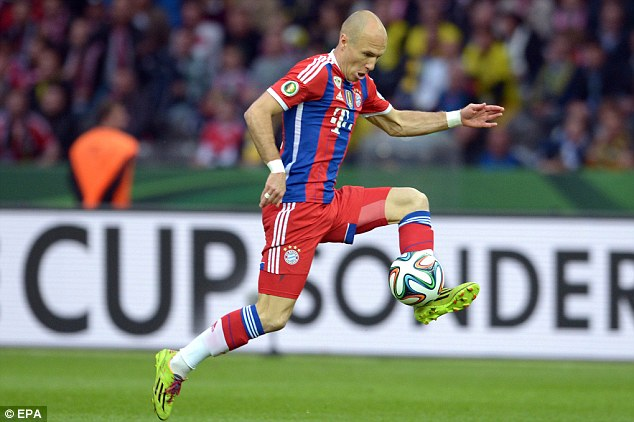 Class act: Van Gaal is known to be a big admirer of Bayern's Arjen Robben