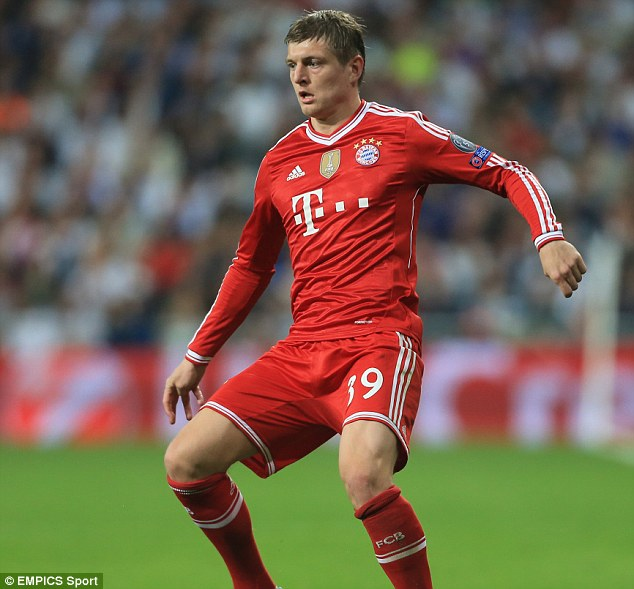 Not a target: Despite being tracked by Manchester United for some time it seems Toni Kroos is no longer an option