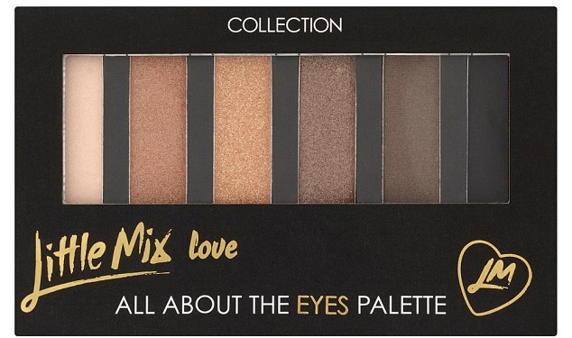 Eye candy: The girls said they wanted to create something the fans could use everyday and love how versatile the eye palette is - they even use it on tour
