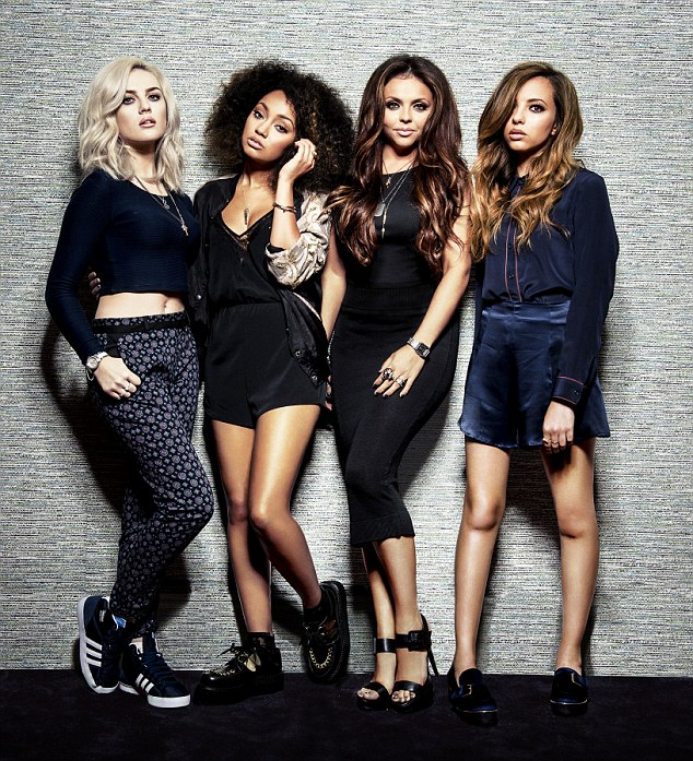 All grown up! Little Mix, who found fame when they won X Factor in 2011, have unveiled their second make-up range for Collection. L-R: Perrie, Leigh-Anne, Jesy and Jade