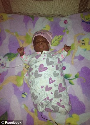 Growing: Phoenix was born with a lung condition and still requires oxygen, but she's expected to grow out of it