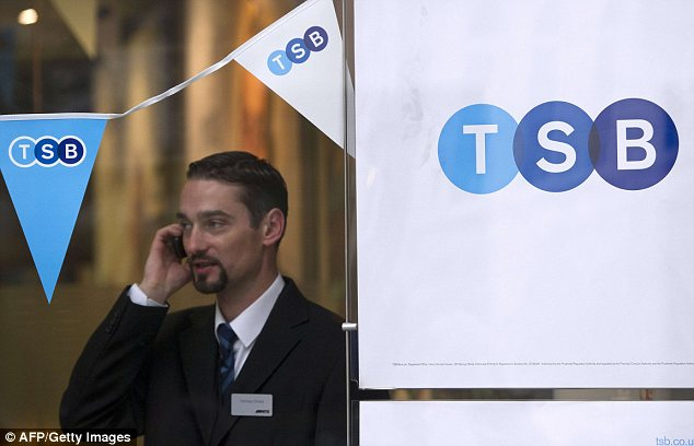 TSB: The well-known brand, which returned to the High Street in September after an almost 20-year absence, will initially sell only a quarter of its shares