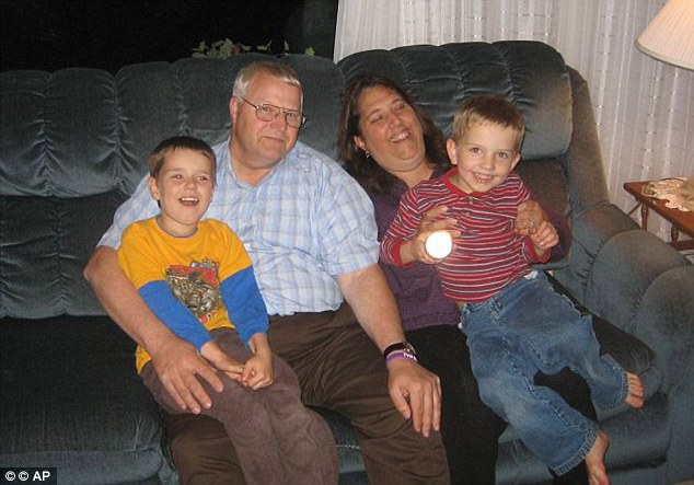 Inappropriate behavior: Chuck and Judy Cox, (pictured) noticed that their grandsons, Charlie (left) and Braden (right), refused to sleep clothed, telling them their father, Josh Powell, used to sleep naked with them