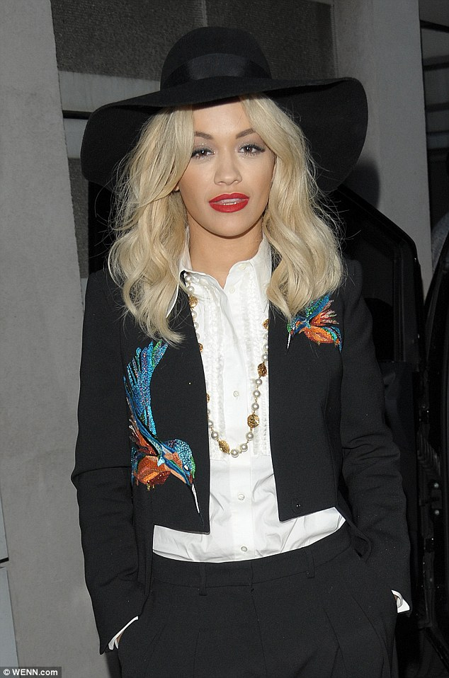 Dapper: Rita Ora at NRJ Radio Station in Paris, France on Monday, ahead of her live shows