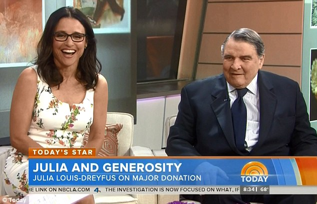 'I couldn't tell she was going to be a star:' Julia Louis-Dreyfus' billionaire father William reveals he had no idea his daughter would become an actress, while appearing on the Today show on Tuesday