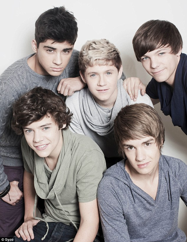 How sweet: One Direction when they first captured the hearts of millions of fans on the X Factor in 2010