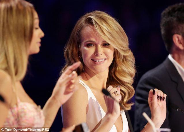 Holden, 43, shows off her black fingernails on Britain's Got Talent