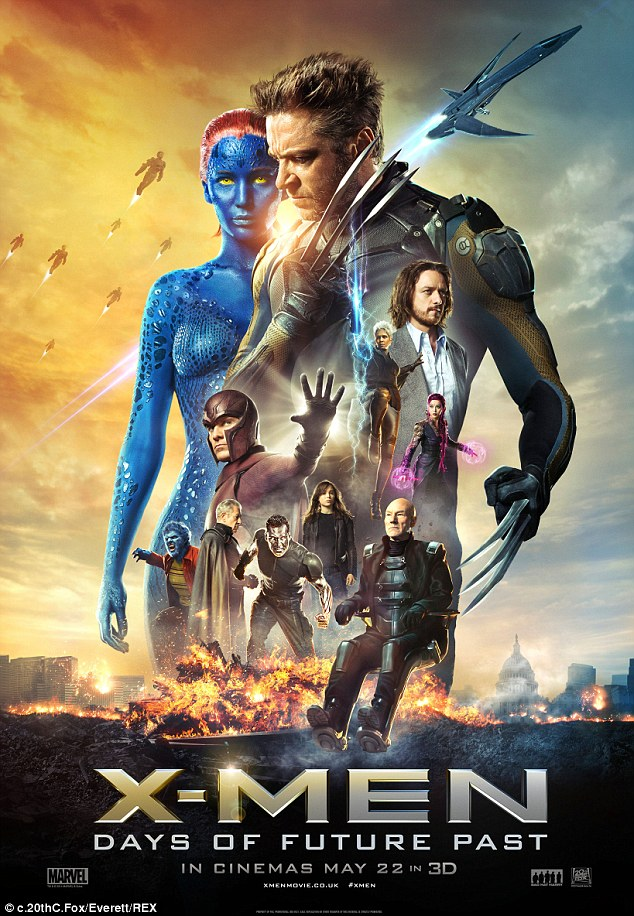 Big hit: Days of Future Past is estimated to earn nearly $110 million over the four-day extended holiday weekend, which would make it the fifth-highest Memorial Day opener just after last year's $117 million-grossing Fast & Furious 6