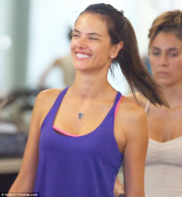 Excited for that BBQ? Alessandra had a huge smile on her face as she got to the end of the workout