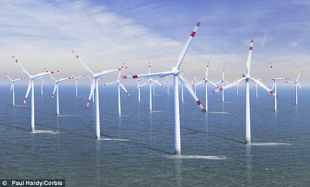 Proposal: The plan is to build 194 wind turbines at sea, which would affect the view from the coast