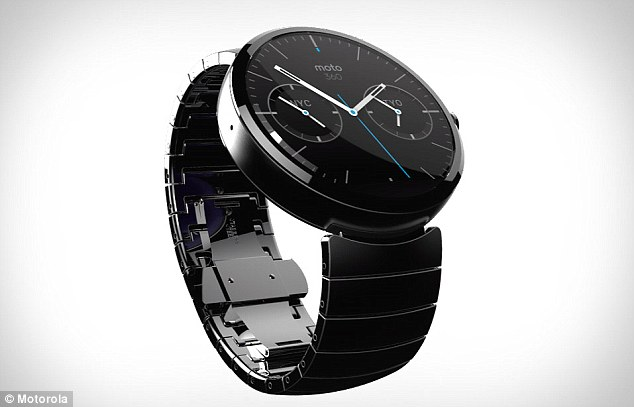 The G Watch is one of a handful of devices, including the Moto 360, pictured, to take advantage of the modified Android software. The Motorola watch is expected to launch shortly after LG's G watch