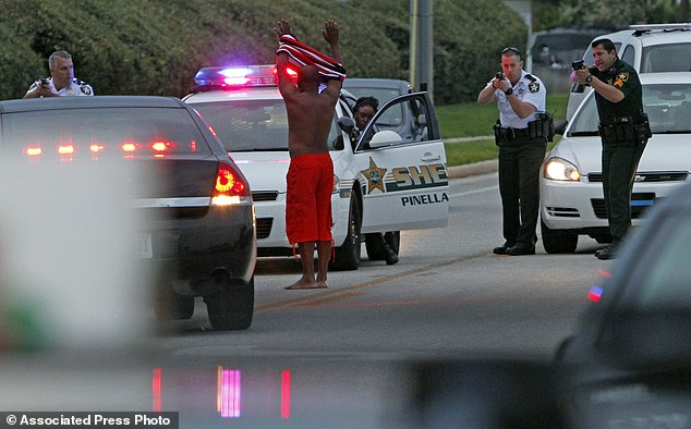 Deputies pulled over a car and took people into custody following shooting near a hotel in Clearwater, Florida on Monday