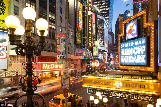 Top marks: New York beat London for nightlife and shopping, according to a survey