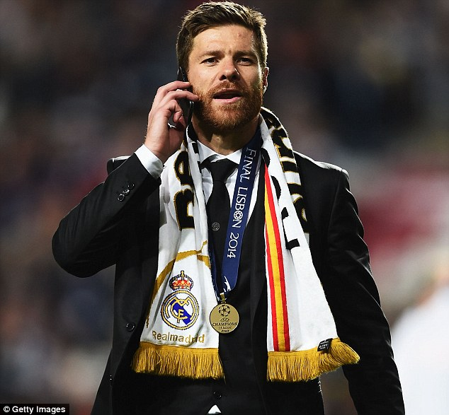 Naughty boy: Suspended Xabi Alonso has been charged with improper conduct after running on to the pitch