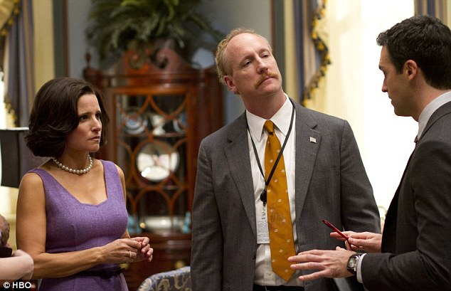Unstoppable: Julia now plays Vice President Selina Meyer on yet another successful television venture, Veep