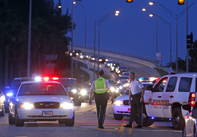 The first shots were fired by a group of people in a temporary parking garage near the Hyatt Regency Clearwater Beach Resort and Spa