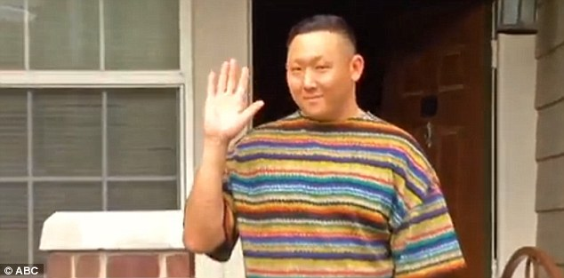 Daniel Sohn admitted to a local TV station on Tuesday that the car and dog were his and explained that the dog had followed him 'because we have a bit of a bond'