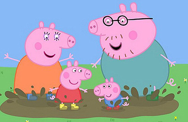Family fun: Peppa Pig was due to appear at her local summer fair, before being banned from entering the UK
