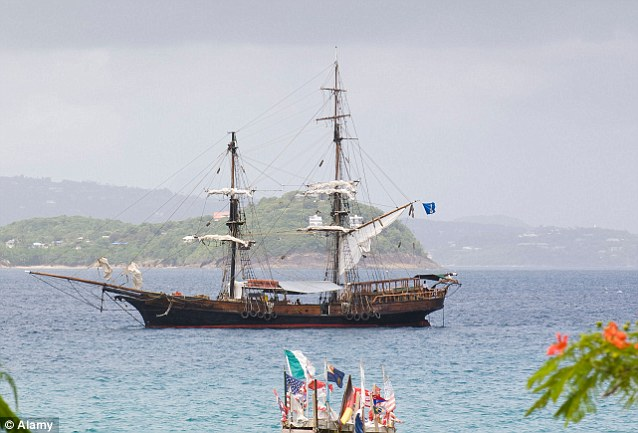 Lost at sea: The Brig Unicorn has hung up it's acting sails, but spent much of it's life in Rodney Bay (pictured) as a bar and restaurant