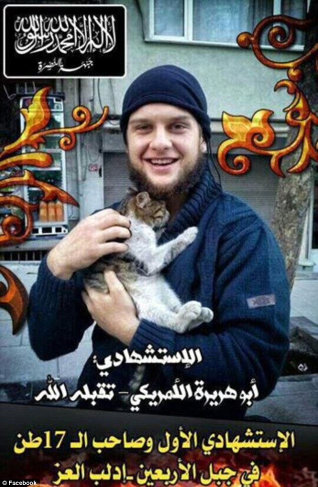 An American suicide bomber calling himself 'Abu Hurayra al-Amriki' allegedly carried out one of four suicide bombings on May 25 in Syria's Idlib province