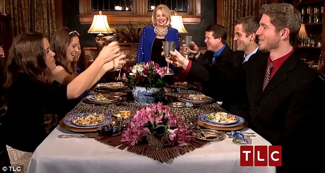 Toast to love: Ben offered a 'toast to love' during the triple-date etiquette dinner