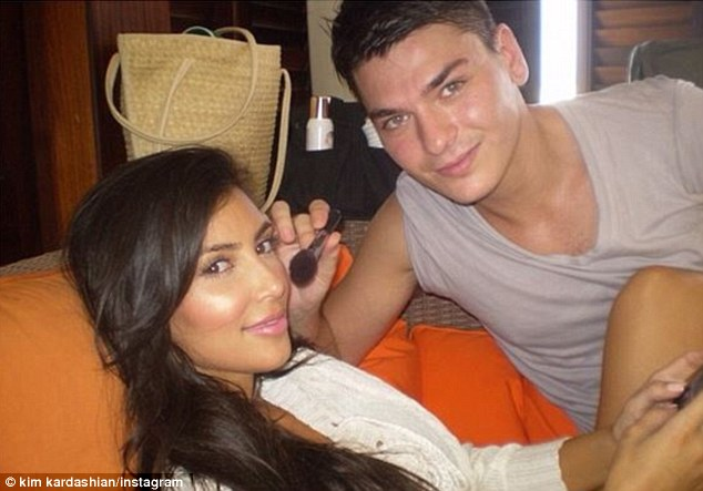 Good pals: Mario and Kim have been good friends ever since meeting five years ago on a make-up shoot in New York