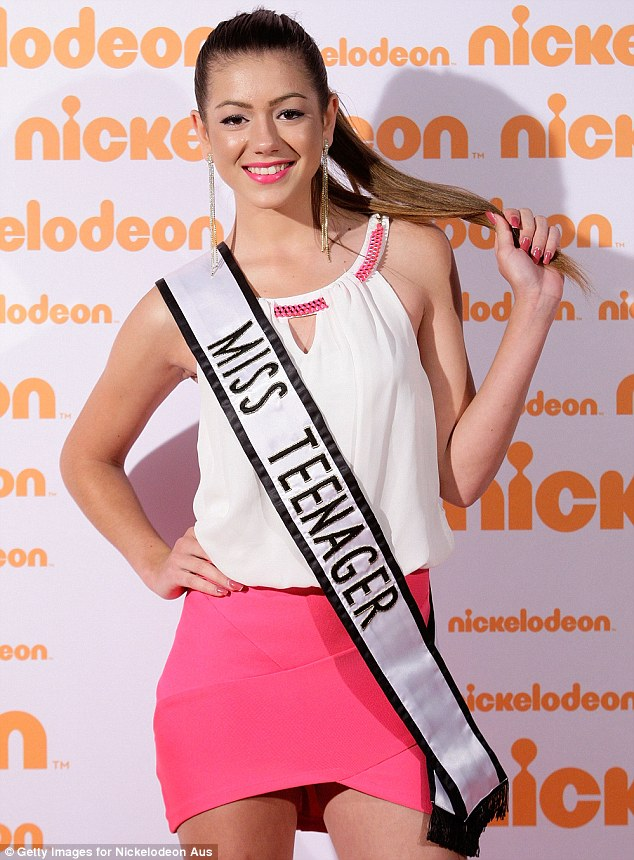 The teen, pictured here at the Nickelodeon Slimefest in 2013, said she represented Miss Teenager Universe at an 'exceptional level'