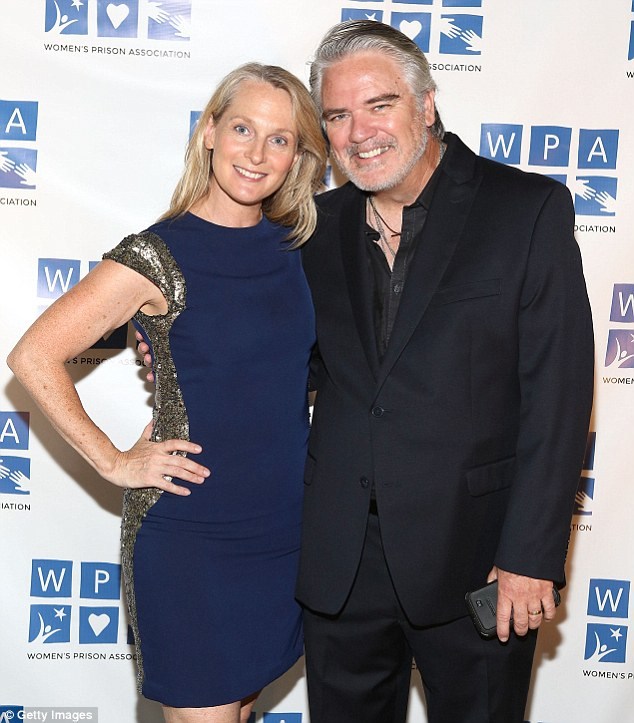 There he is! Michael Harney slicked back his silver hair and flashed a smile alongside Piper