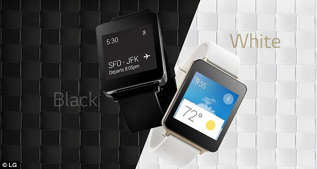 Google showed off the LG G Watch, expected to go on sale in July for £180. It runs a special version of Android called Android wear.