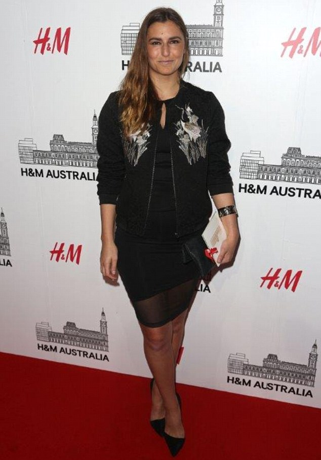 Talented: Fashion enthusiast Frances Abbott, seen here in Melbourne in April, received a scholarship for her degree at the Whitehouse Institute of Design