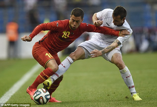 Plain talking: Hazard said he is purely focused on being a success for Belgium at this summer's World Cup