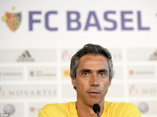 Challenge: Paulo Sousa, pictured here in July last year, has been appointed the new manager of FC Basel
