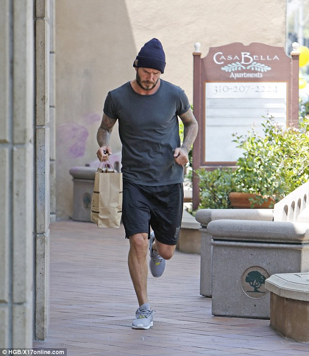 Nutritious: David stopped by Juice Crafters in Brentwood on Wednesday
