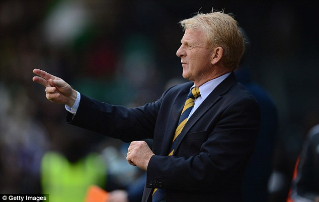 Bullish mood: Gordon Strachan was pleased with Scotland's attacking display against Nigeria
