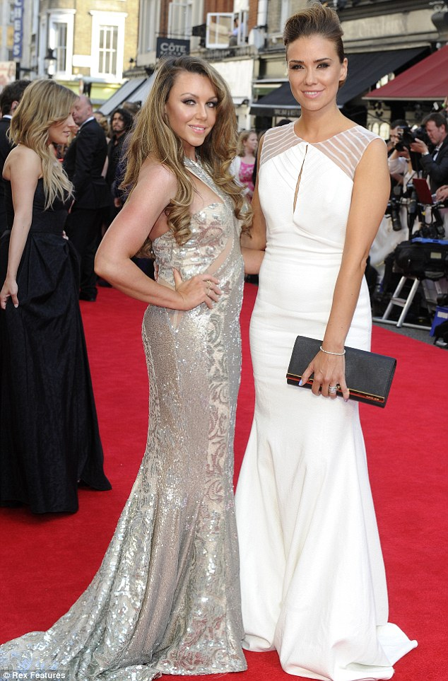 Glamorous: Jessica looked stunning at the Arquiva British Academy Awards, where she was reunited with band-mate Michelle Heaton in London on May 18