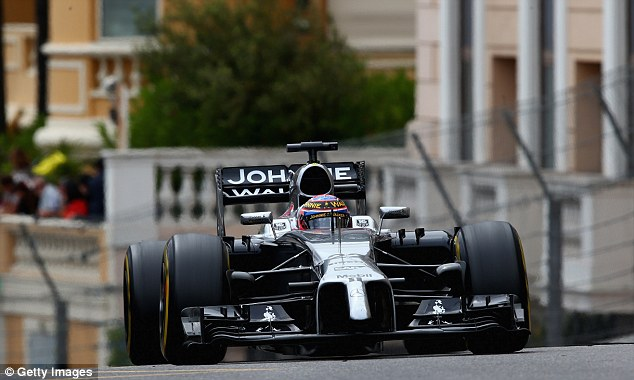 Struggling: Jenson Button of McLaren is eighth in the drivers standings, 91 points behind leader Nico Rosberg