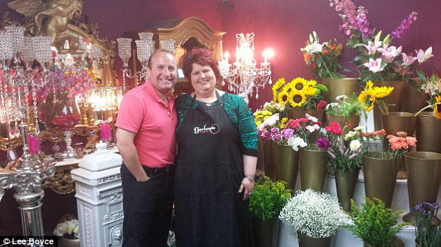 Popular face: Rachel was delighted when Dave popped into her Accrington florist - how many bank managers do that?