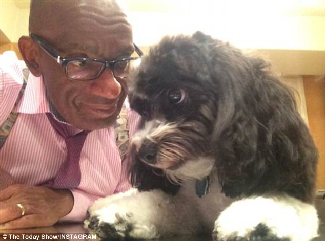 Monochrome: Al Roker takes a selfie with his dog Pepper
