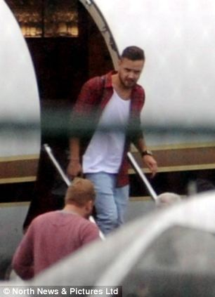 Liam Payne arrives at Newcastle airport ahead of concert in Sunderland