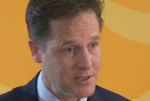 Nick Clegg insisted he had not been crying before this TV interview