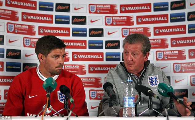Ready for duty: England manager Roy Hodgson and Steven Gerrard speak ahead of Friday's friendly